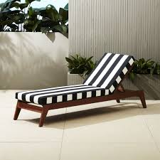 filaki black and white striped chaise lounge cb2