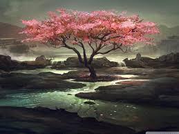 blossom tree painting 4k hd desktop wallpaper for 4k ultra hd tv