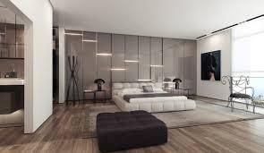 Grey Walls Wood Floor by Bathroom Grey Bedroom With Glass Wall Lighting Panels Wooden