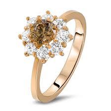 brown diamond engagement ring brown diamond ring in 18k gold diamondland