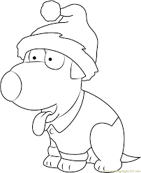 brian griffin working on computer coloring page free brian