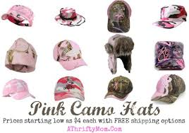 pink camo stocking and christmas ornaments country gift ideas