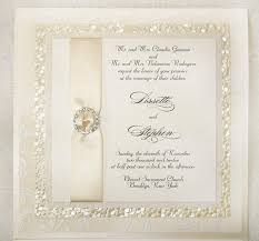 Bling Wedding Invitations Ivory Wedding Invitation With Texture And Bling White Ivory