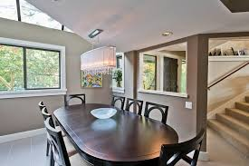 Contemporary Dining Room Chandeliers Oval Crystal Chandelier Dining Room Contemporary With Covered