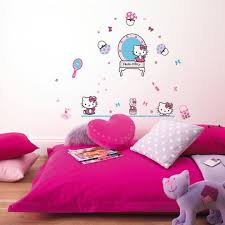wall stickers babies and children hello kitty shop wall art com hello kitty wall sticker set