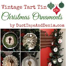 vintage tart tin ornaments