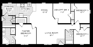 Master Bedroom Bath Floor Plans 4 Bedroom Mobile Home Floor Plans
