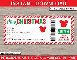 printable christmas gift vouchers christmas surprise disney cruise ticket printable christmas gift