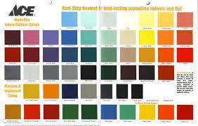 chart rust oleum automotive paint color charts