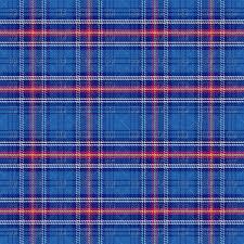 Tartan Seamless Pattern Of Blue Scottish Tartan Vector Clipart Image