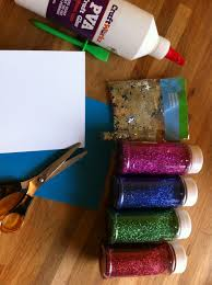greeting card glitter paper craft any age glue glitter cards