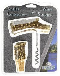 rivers edge deer antler and bottle stopper corkscrew amazon co