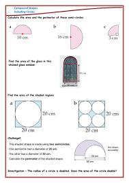 compound shapes circles worksheet by danielabbott89 teaching
