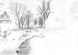 pencil sketches of nature beach scenes cross the bridge mountain