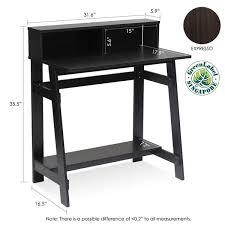 espresso desk with hutch furinno 14054ex simplistic a frame computer desk espresso furinno com