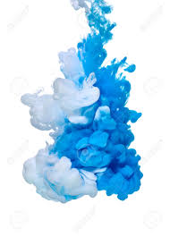 blue white paint in water stock photo picture and royalty free