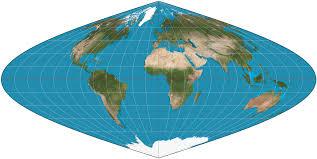 Flat Map Of World by Sinusoidal Projection Wikipedia