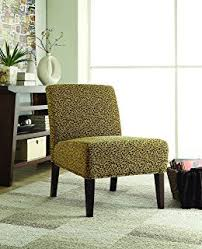 Living Room Accent Chair Amazon Com Modern Plush Oversized Armless Accent Chair Leopard