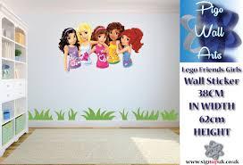 lego friends wall sticker girls bedroom sticker lego large lego friends wall sticker