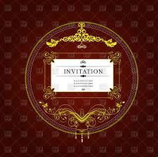Invitation Card Download Gold Classic Ornate Round Frame For Invitation Card Vector Image