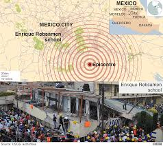 Earthquake World Map by Mexico Quake A Visual Guide Bbc News