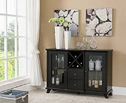 Buffet Furniture Modern by Amazon Com Modern Sideboard Buffet Table Server With Wine Rack 2