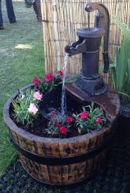 oak barrel water feature 21 pitcher so neat for a small