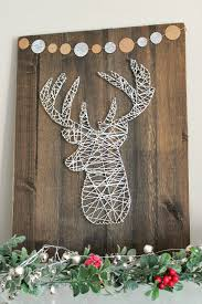 Christmas Decorations With Deer by Deer Head String Art String Art Rustic Christmas And Christmas