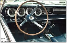 inside of dodge charger the early dodge charger car from 1964 to 1967
