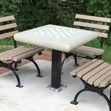 tables in central park concrete classics new york style chess tables and park benches