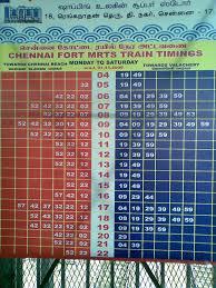 Metro Time Table Beach Mrts Timetable 2009 U2013 Madras Fort U2013 Straphangers United