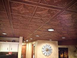 Lighting For Cathedral Ceiling In The Kitchen by Cathedral Antique Bronze Faux Tin Ceiling Tiles