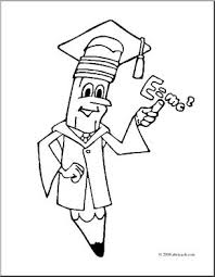 clip art cartoon professor pencil coloring page i abcteach com