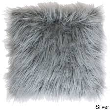 Faux Fur Throw Pillow Thro By Marlo Lorenz Thro Keller Faux Mongolian 26 Inch Throw