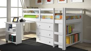 bedroom bunk beds with desk underneath for children furniture