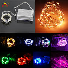 copper wire lights battery 2m led string lights battery operated waterproof warm white rgb