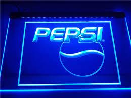 pepsi cola logo drink decor led sign u2013 vintagily