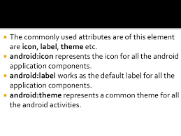 android label android terminologies
