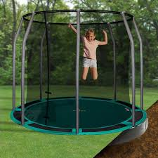 Backyard Gymnastics Equipment In Ground Trampoline For The Backyard U2013 Super Fun Outdoor