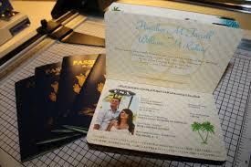 How To Make Wedding Invitations Vanessa U0027s Diy Passport Destination Wedding Invitations Pic Heavy