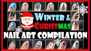 winter u0026 christmas holiday nail art compilation meliney how to