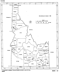 Map Of Washington State Counties by Idaho Outline Maps And Map Links