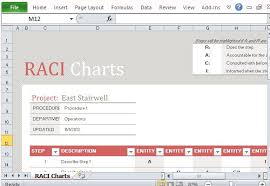 Free Raci Chart Template For Excel Rasci Matrix Template