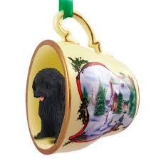 cockapoo ornament figurine teacup black