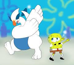 spongebob and lugia squidward dab by darkradx on deviantart