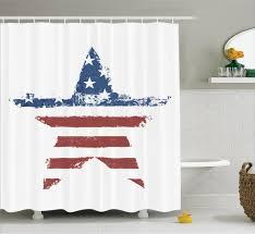 cowboy bathroom ideas american flag shower curtain stars stripes bathroom decor western