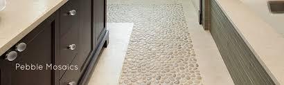 bathroom black pebble tile pebble tiles tile pebbles