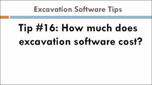 Excavation Estimating by Tip 16 How Much Does Excavation Estimating Software Cost