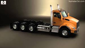 a model kenworth kenworth t880 chassis truck 4 axle 2013 by 3d model store