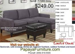 gray fabric small sectional sofa couch and ottoman set modern